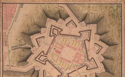 Planta de la <i>Ciutadella</i> de Barcelona. 1775. AHCB