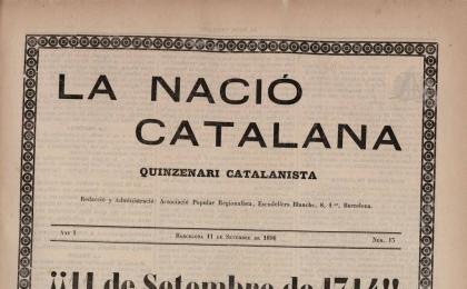 La Nació Catalana. 11-09-1898. AHCB.