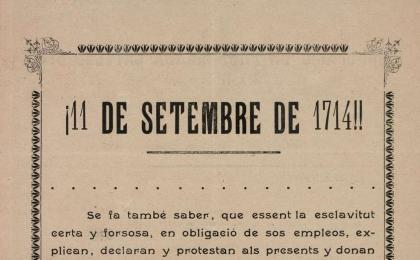 Full volander de l'Agrupació Propaganda Catalanista. 1901. AHCB.
