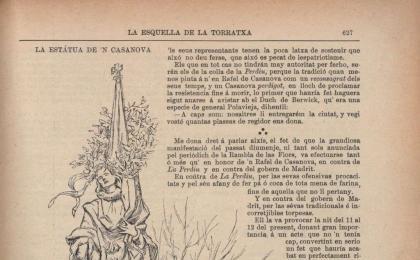 """Acudit a """"L'Esquella de la Torratxa"""". 20-09-1901. AHCB."""