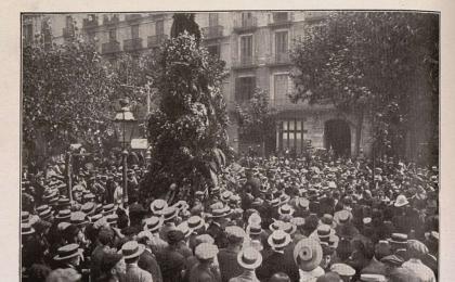 Inauguració del monument a Rafael Casanova. 11-09-1914.