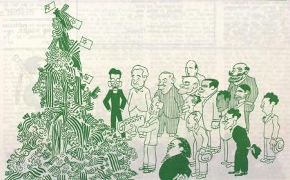 Acudit de Valentí Castanys. El Be Negre. 13-09-1932. AHCB.