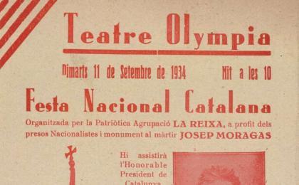 Representació al Teatre Olympia. 11-09-1934. AHCB.