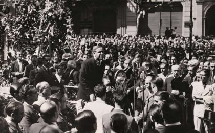 Carles Pi i Sunyer, alcalde de Barcelona. 11-09-1934.