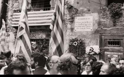 Fossar de les Moreres. 11-09-1981. Pérez de Rozas. AFB.