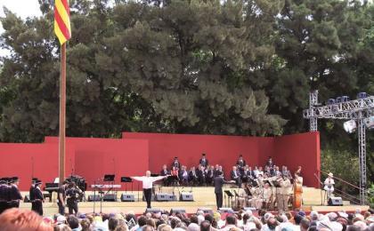 Acte al Parc de la Ciutadella. 11-09-2009. Josep Manuel Torres.