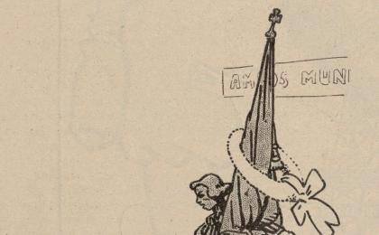 Rafael Casanova se solidariza con la Bélgica ocupada por el ejército alemán. 1914.