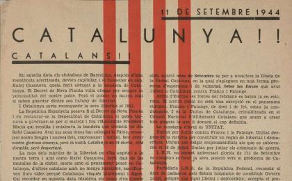 Full volander reivindicant la República Federal. 11-09-1944. AHCB.