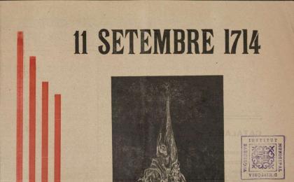 Full volander reivindicant l'Autonomia de Catalunya. 11-09-1947. AHCB.