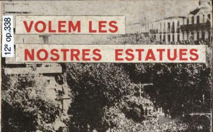 Llibre on es reivindica el monument a Rafael Casanova. 1963. AHCB.