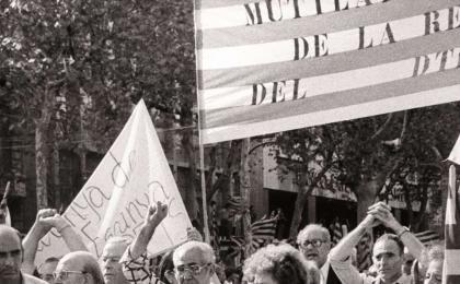 Mutilados de la República el Once de Septiembre de 1977. J. Brangulí. AFB.