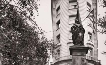 Consell Executiu de la Generalitat presidit per Josep Tarradellas. 11-09-1979. Pérez de Rozas. AFB.