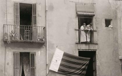 Convocatòria d'Unió Catalanista al Fossar de les Moreres. 1915. F. Ballell. AFB.