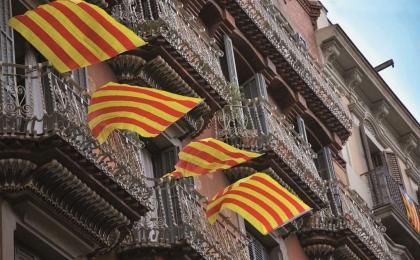 Banderes als balcons. 11-09-2012. Antonio Lajusticia. DISE.
